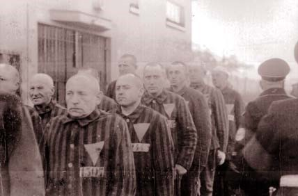 Gay men, incarcerated by the Nazis and forced to wear the infamous Pink Triangle. I Instead of releasing them, the triumphant Christian allies treated them as common criminal's and returned them to their cells to serve out their full sentences.